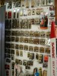 wall of gun accessories